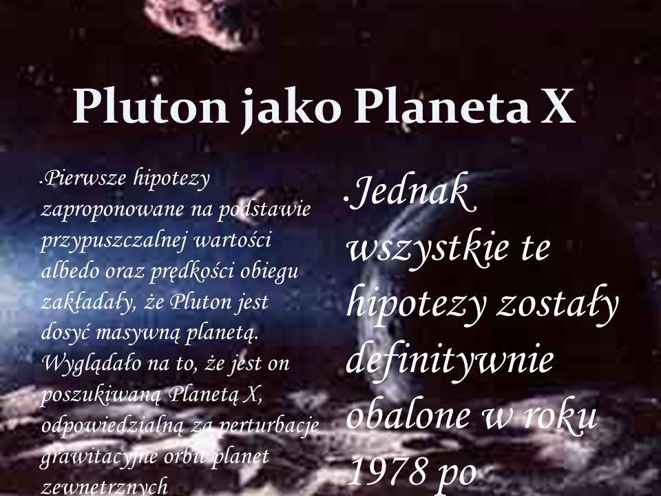 Pluton jako Planeta X