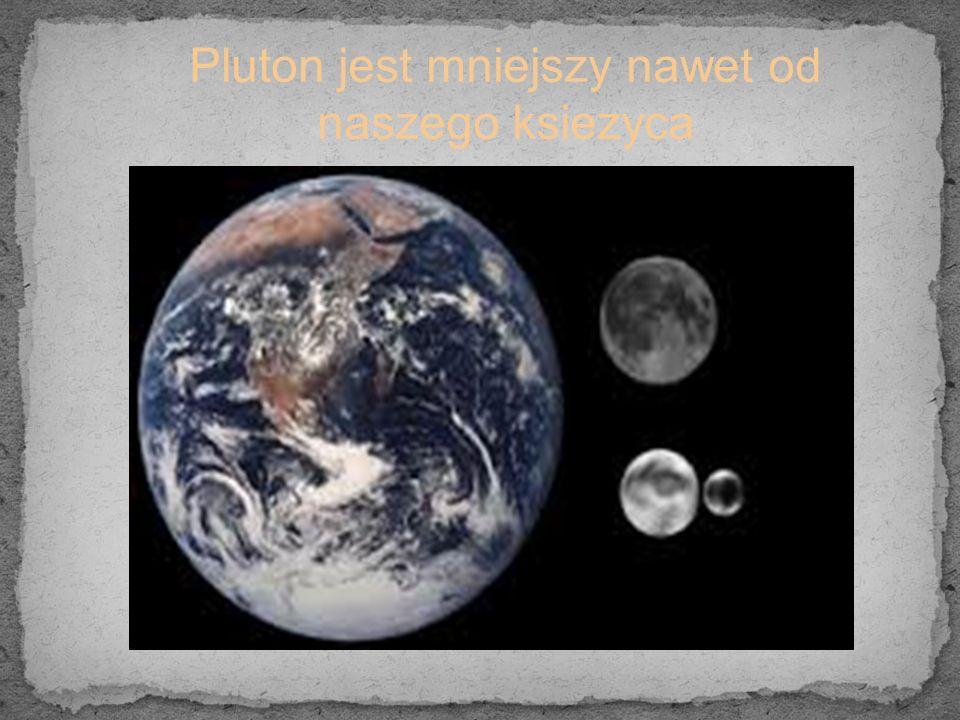Pluton jest mniejszy nawet od naszego ksiezyca