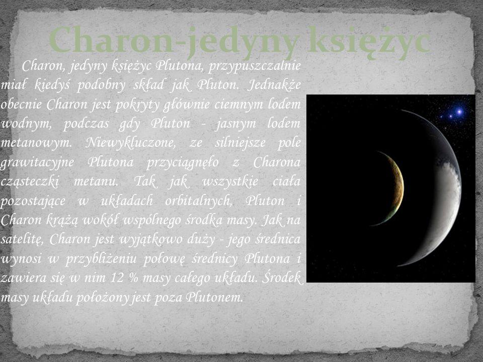 Charon-jedyny księżyc