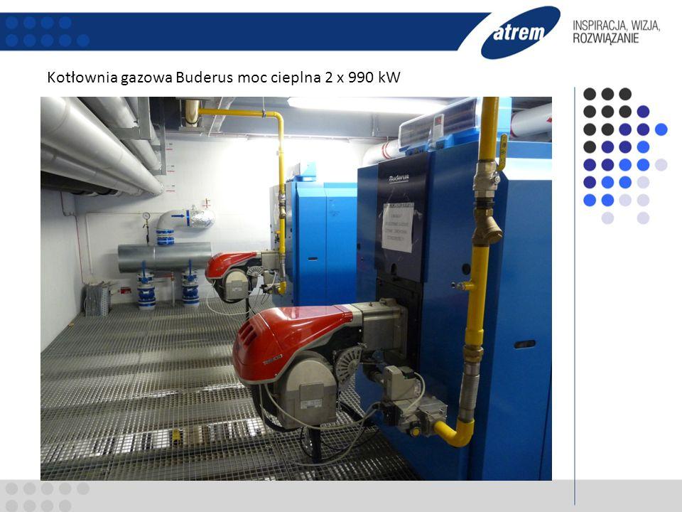 Kotłownia gazowa Buderus moc cieplna 2 x 990 kW