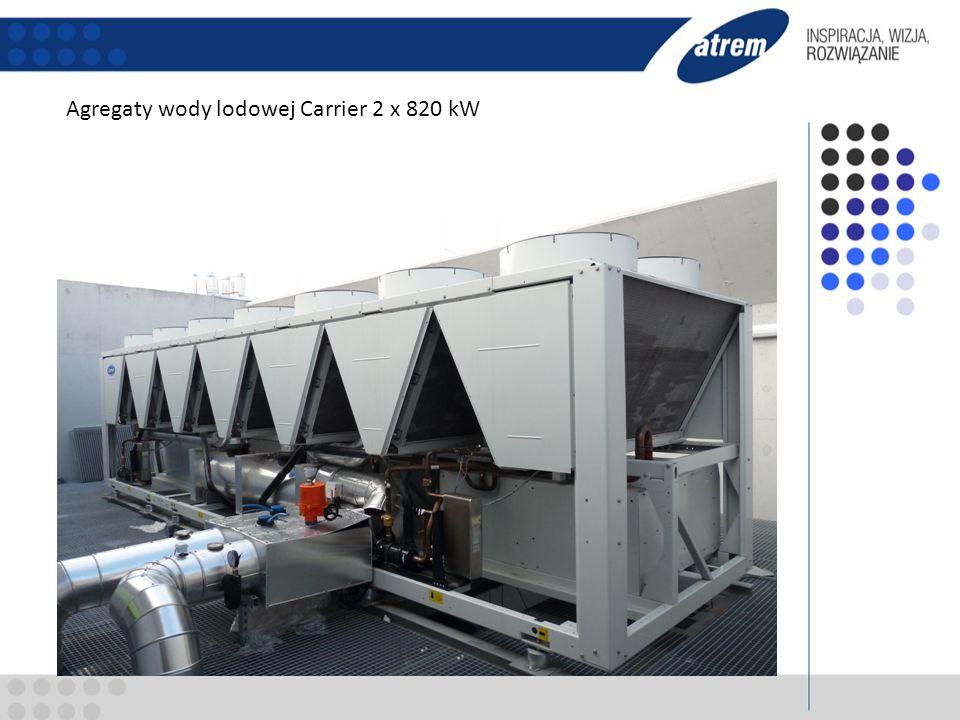 Agregaty wody lodowej Carrier 2 x 820 kW