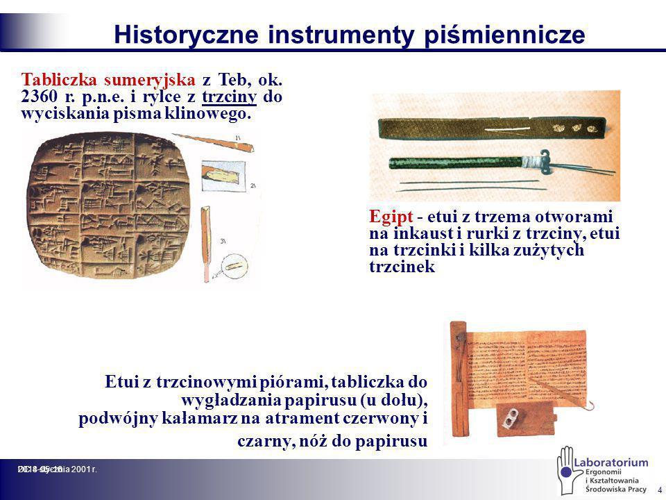 Historyczne instrumenty piśmiennicze