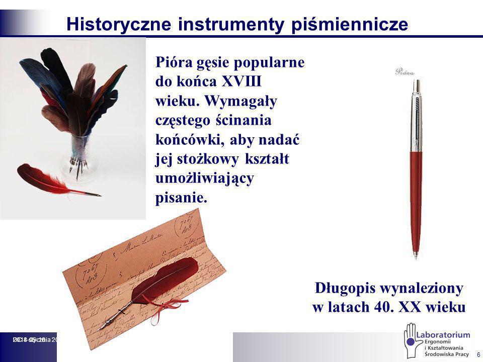 Cechy ergonomiczne wyrobów piśmienniczych