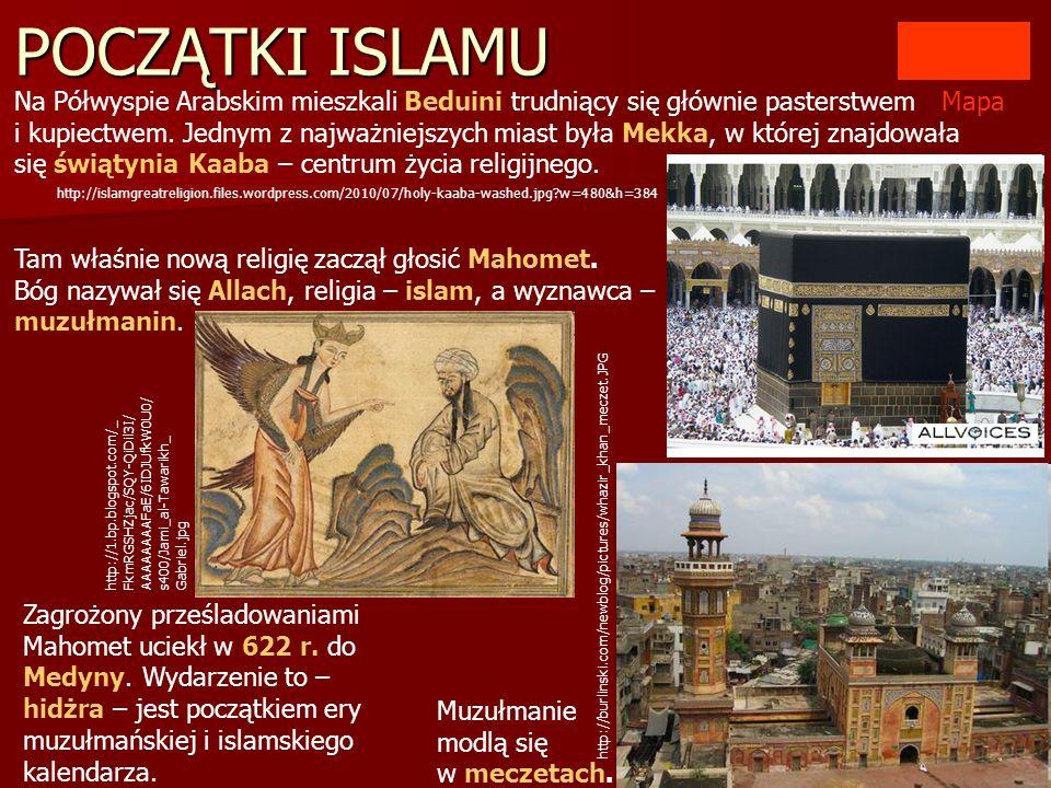 POCZĄTKI ISLAMU