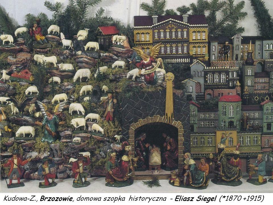 Kudowa-Z. , Brzozowie, domowa szopka historyczna - Eliasz Siegel (