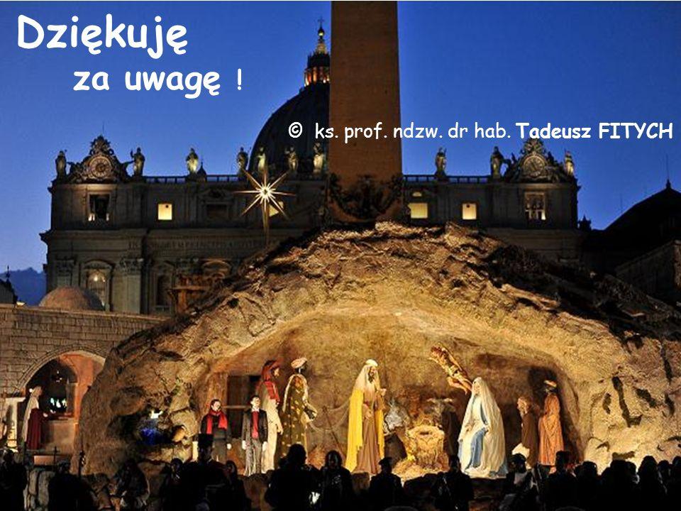 Dziękuję za uwagę ! © ks. prof. ndzw. dr hab. Tadeusz FITYCH