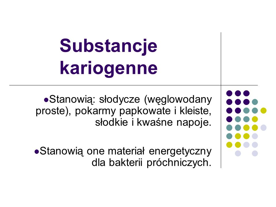 Substancje kariogenne