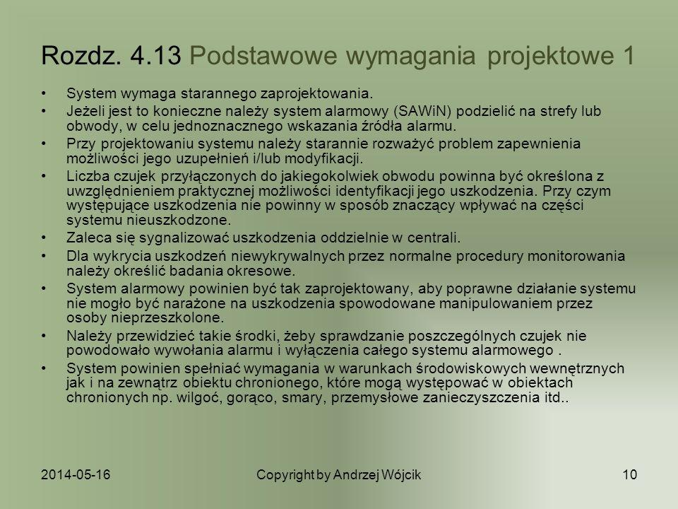 Rozdz. 4.13 Podstawowe wymagania projektowe 1
