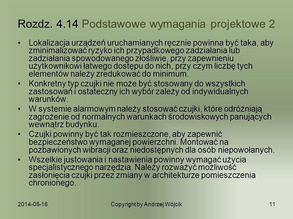 Rozdz. 4.14 Podstawowe wymagania projektowe 2