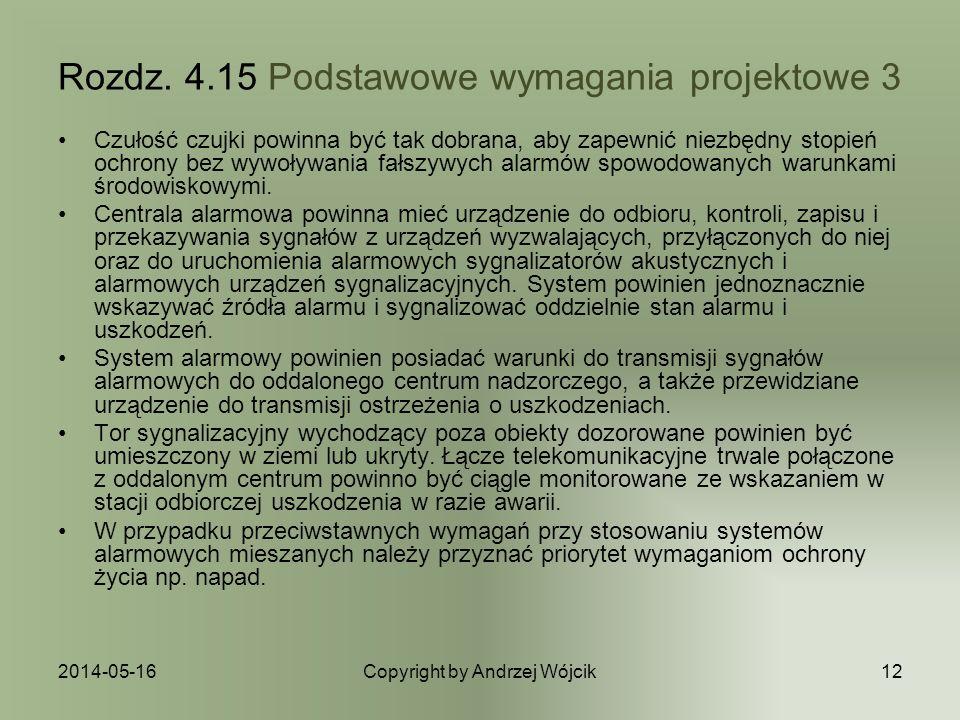 Rozdz. 4.15 Podstawowe wymagania projektowe 3