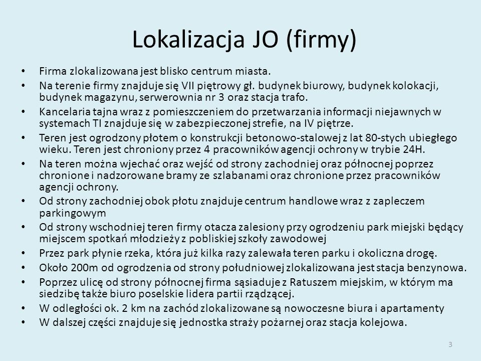 Lokalizacja JO (firmy)