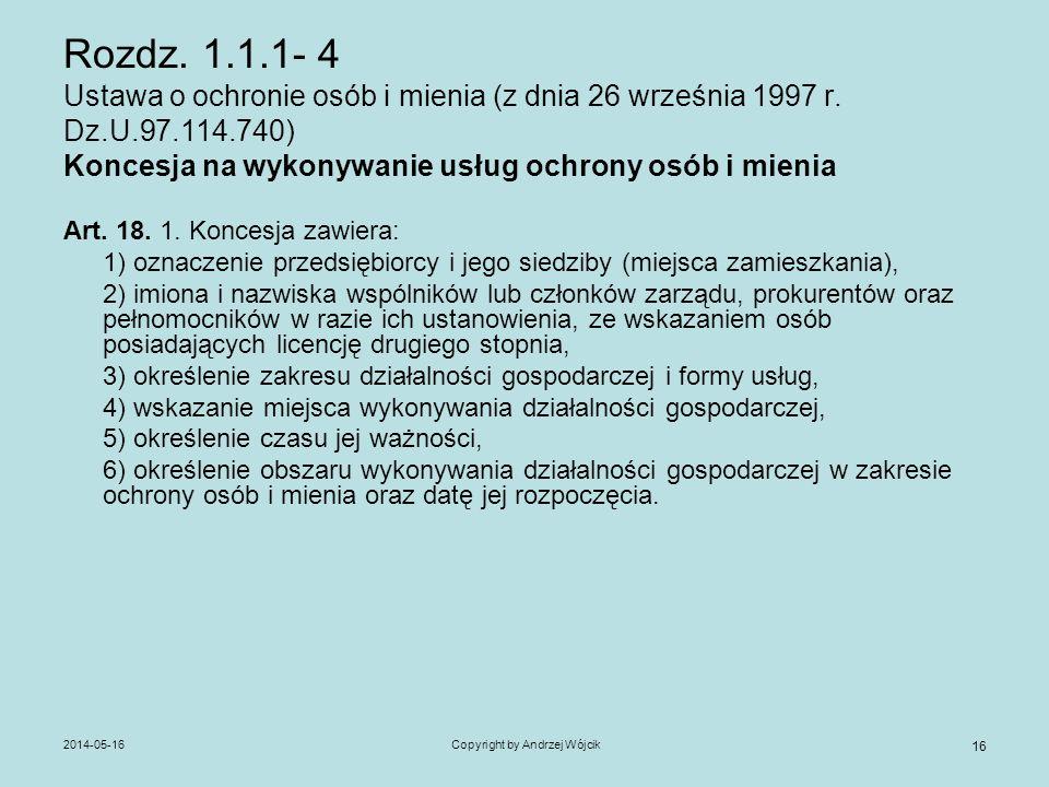 Copyright by Andrzej Wójcik