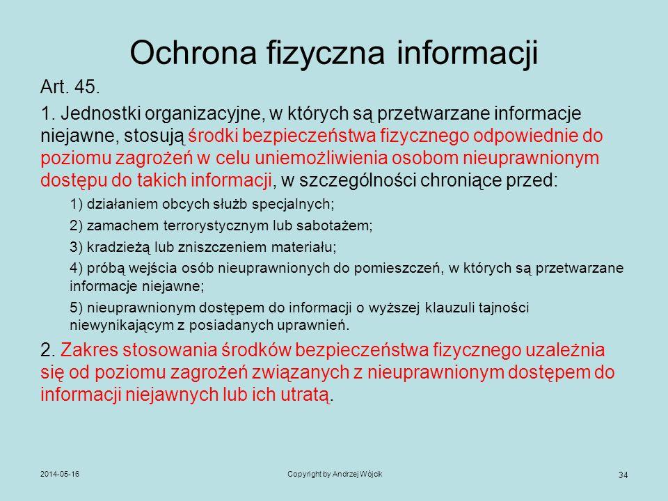 Ochrona fizyczna informacji
