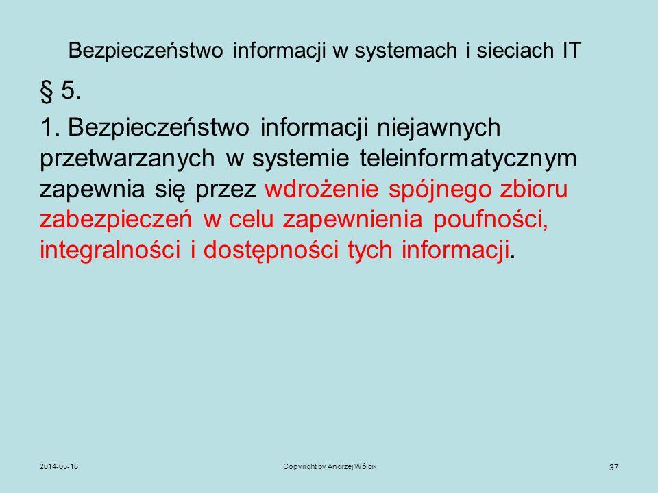 Bezpieczeństwo informacji w systemach i sieciach IT