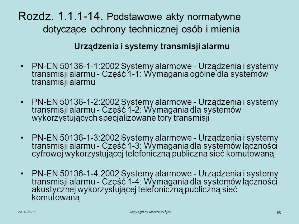 Urządzenia i systemy transmisji alarmu