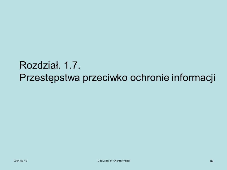 Rozdział. 1.7. Przestępstwa przeciwko ochronie informacji
