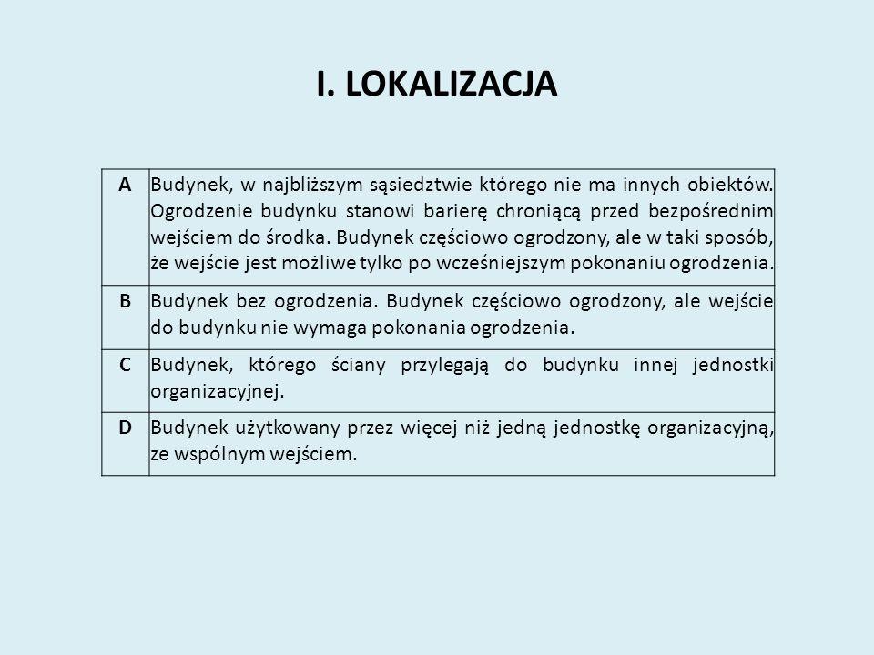 I. LOKALIZACJA A.