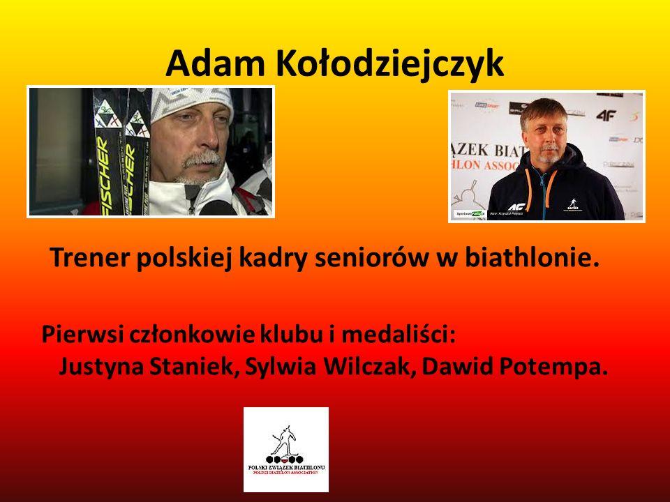 Trener polskiej kadry seniorów w biathlonie.