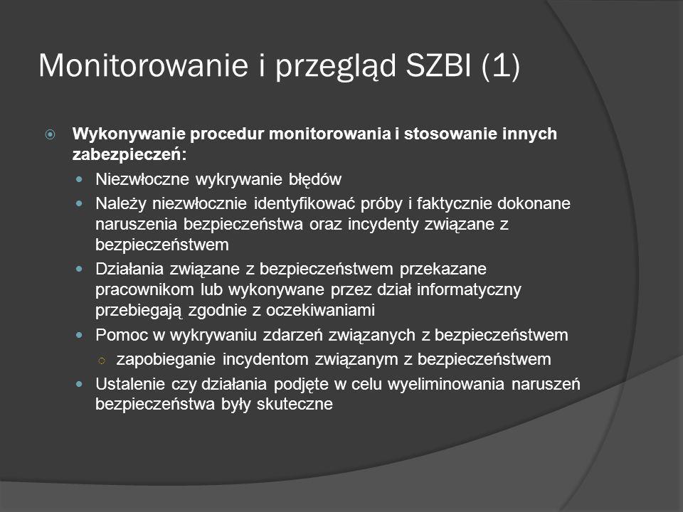 Monitorowanie i przegląd SZBI (1)