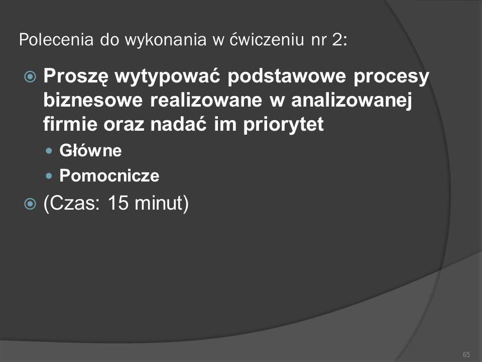 Polecenia do wykonania w ćwiczeniu nr 2: