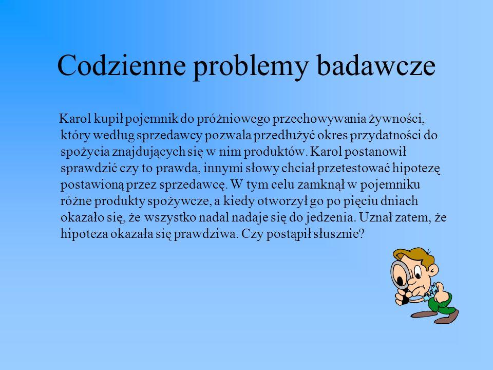 Codzienne problemy badawcze