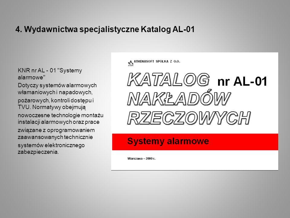 4. Wydawnictwa specjalistyczne Katalog AL-01