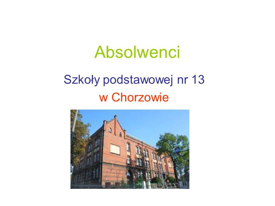 Szkoły podstawowej nr 13 w Chorzowie