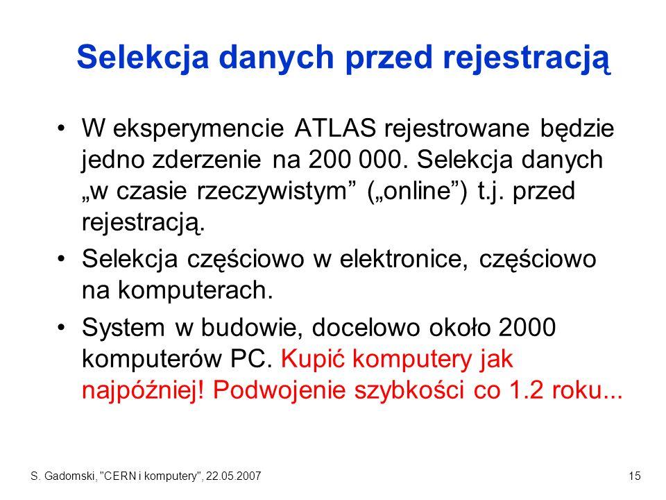 Selekcja danych przed rejestracją