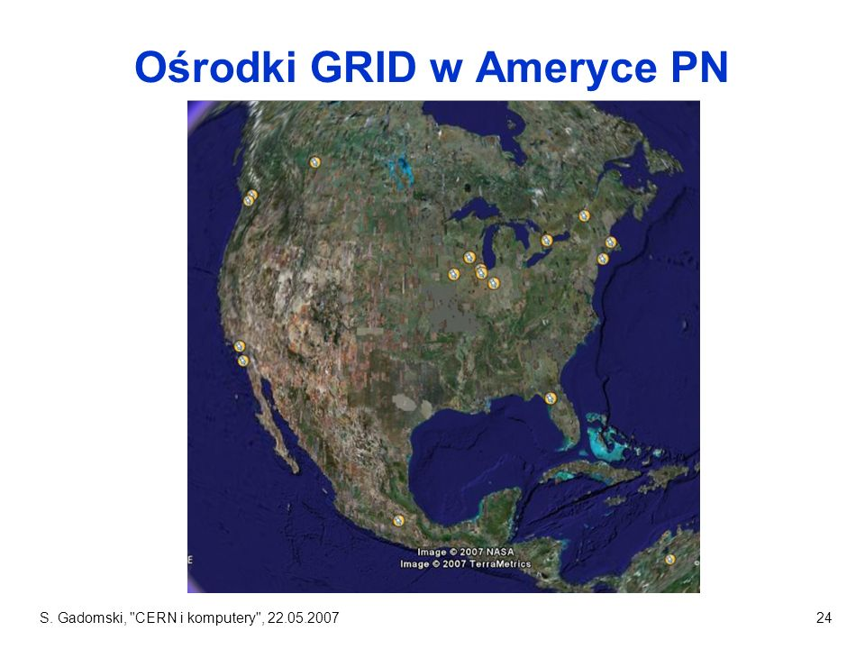 Ośrodki GRID w Ameryce PN