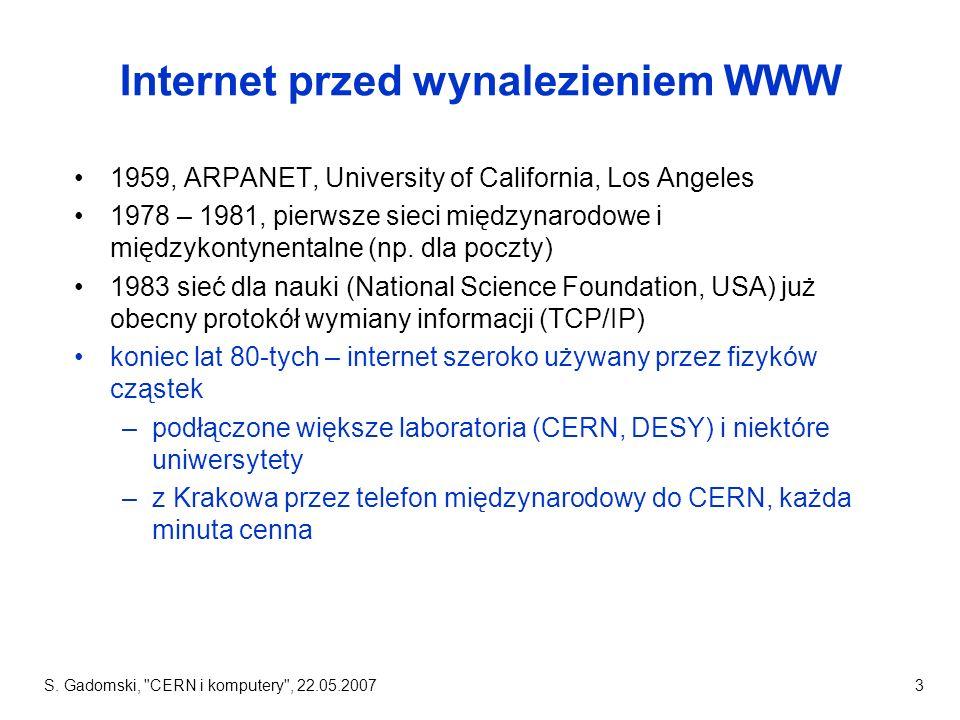 Internet przed wynalezieniem WWW