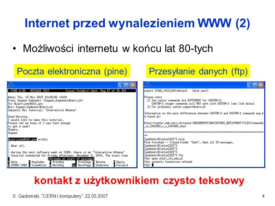 Internet przed wynalezieniem WWW (2)