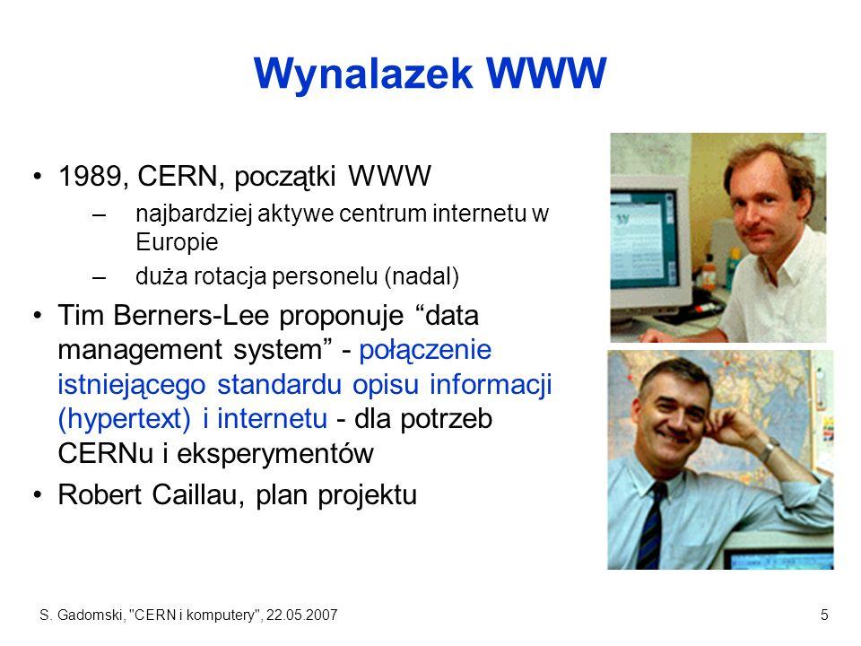 Wynalazek WWW 1989, CERN, początki WWW