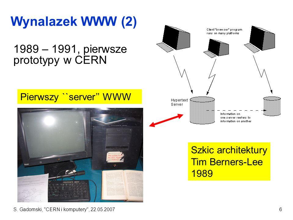 Wynalazek WWW (2) 1989 – 1991, pierwsze prototypy w CERN