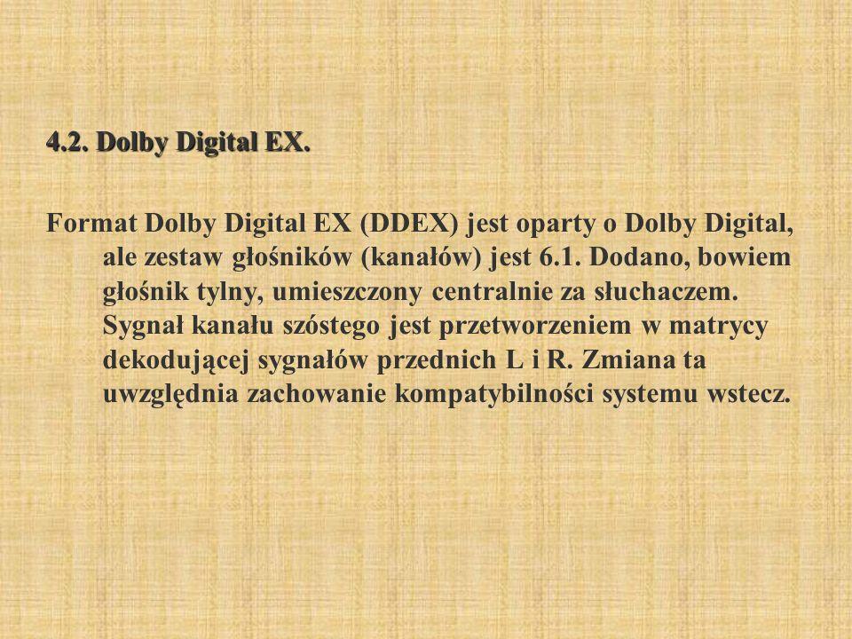 4.2. Dolby Digital EX.