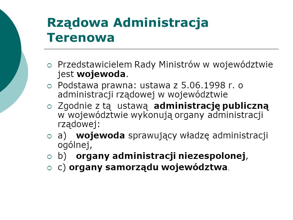Rządowa Administracja Terenowa