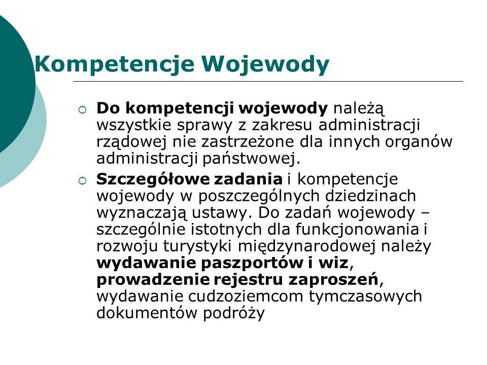 Kompetencje Wojewody