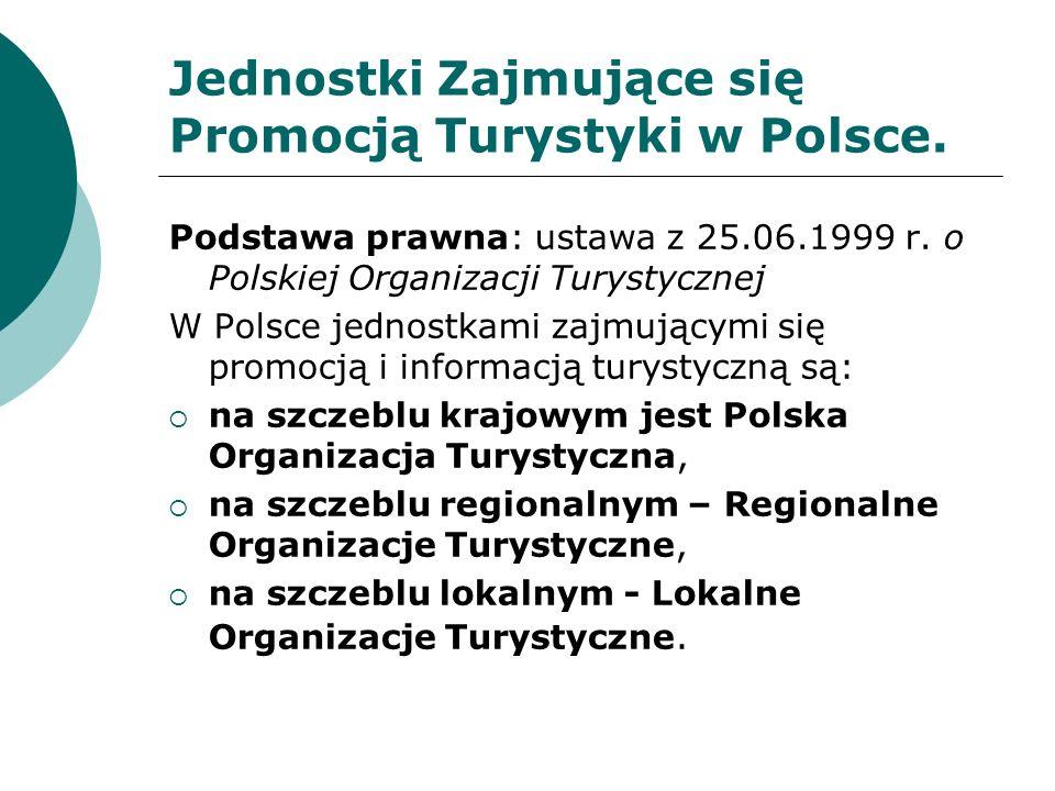 Jednostki Zajmujące się Promocją Turystyki w Polsce.