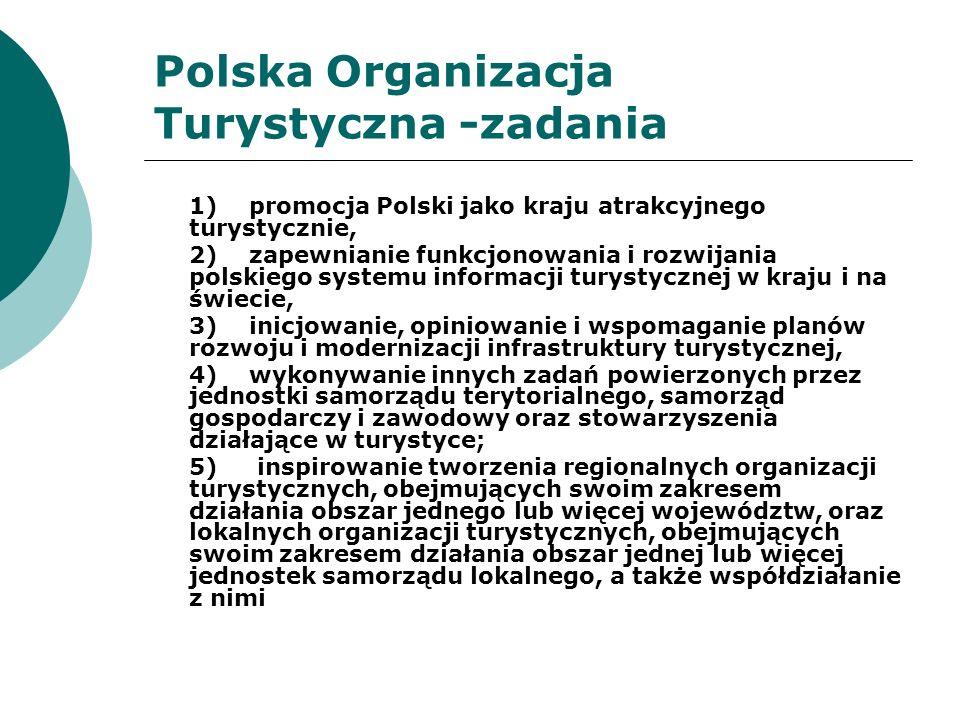 Polska Organizacja Turystyczna -zadania