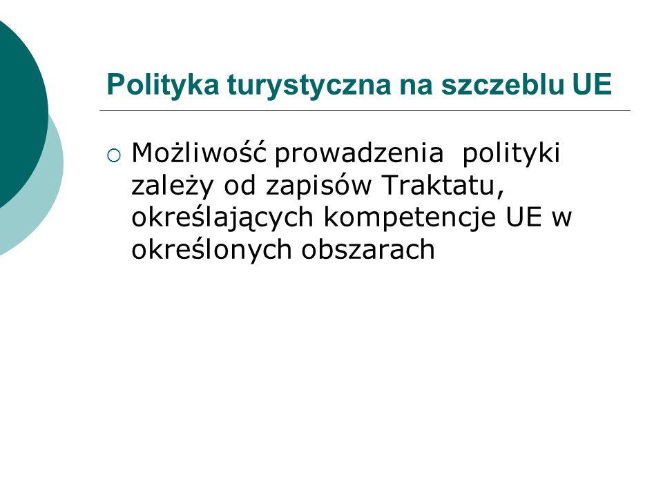 Polityka turystyczna na szczeblu UE