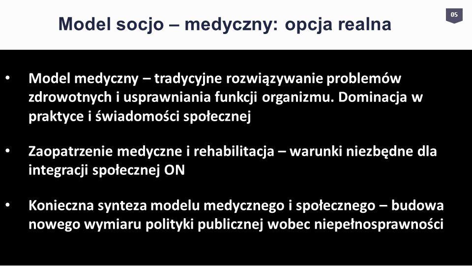 Model socjo – medyczny: opcja realna