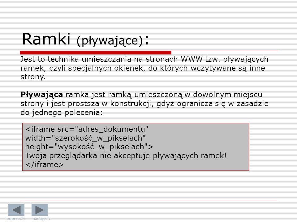 Ramki (pływające):