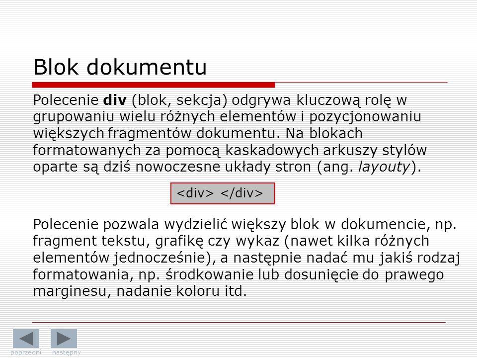 Blok dokumentu