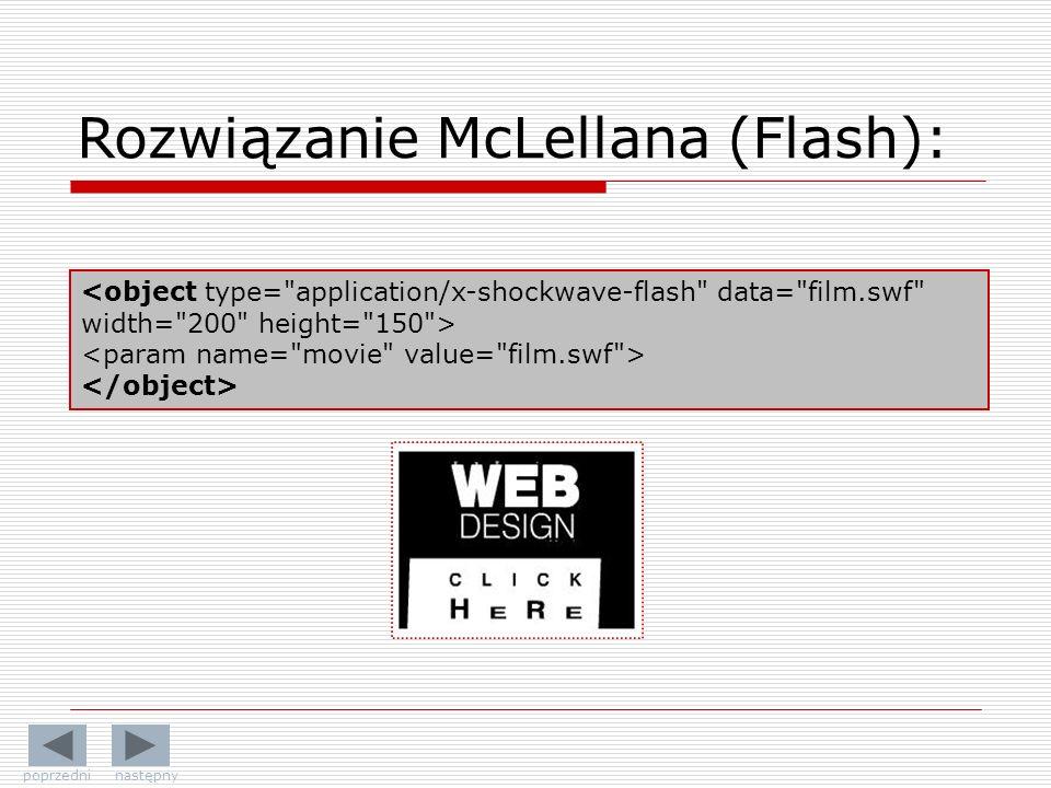 Rozwiązanie McLellana (Flash):