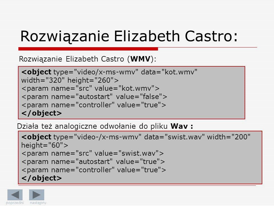 Rozwiązanie Elizabeth Castro: