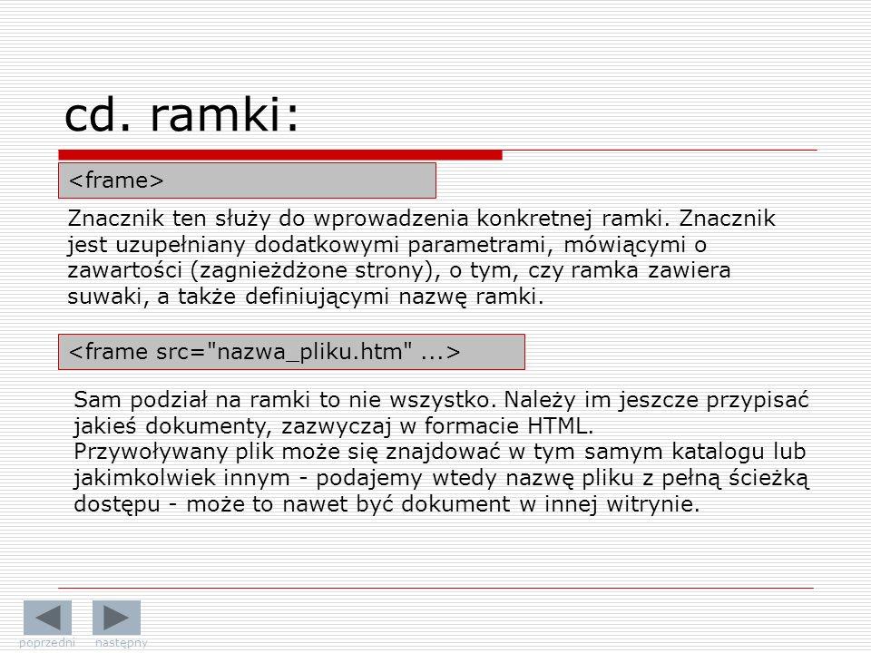 cd. ramki: <frame>