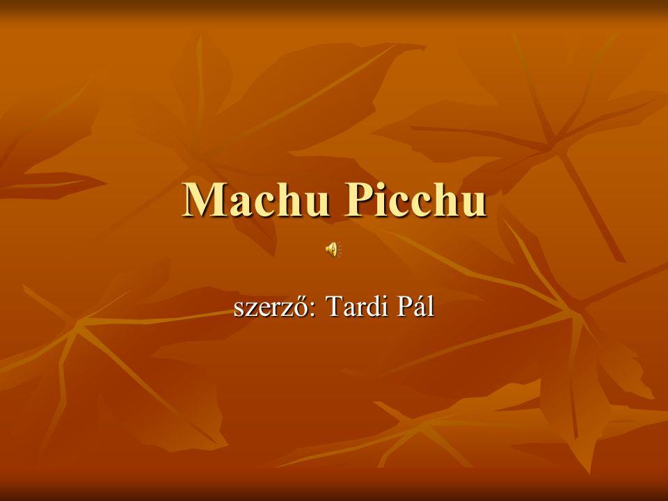 Machu Picchu szerző: Tardi Pál