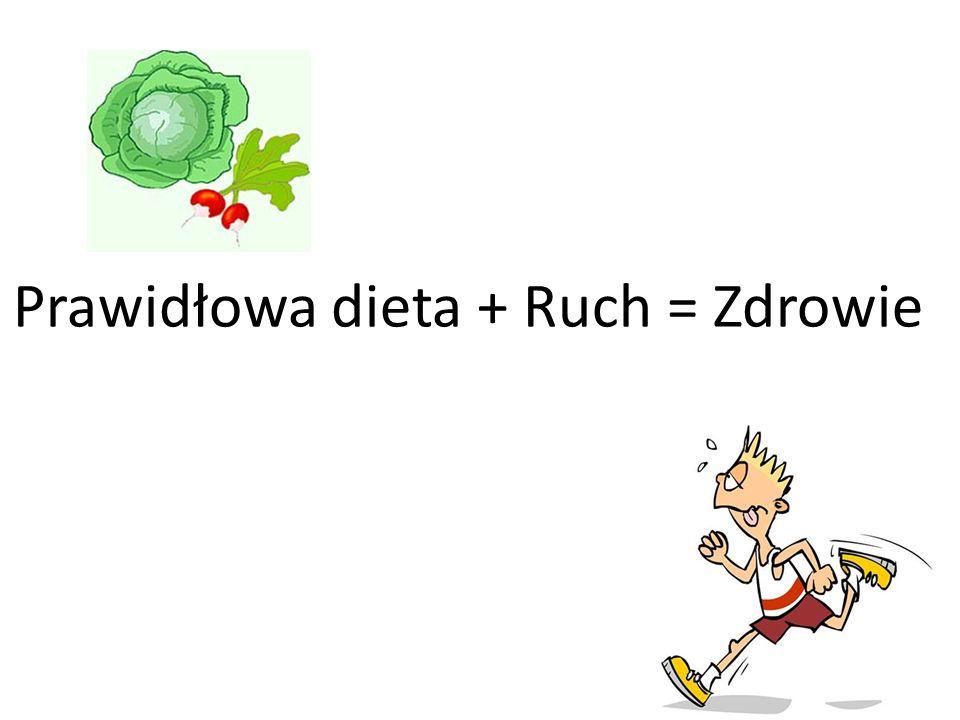 Prawidłowa dieta + Ruch = Zdrowie