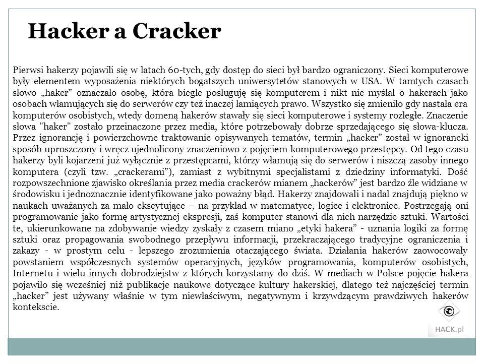Hacker a Cracker