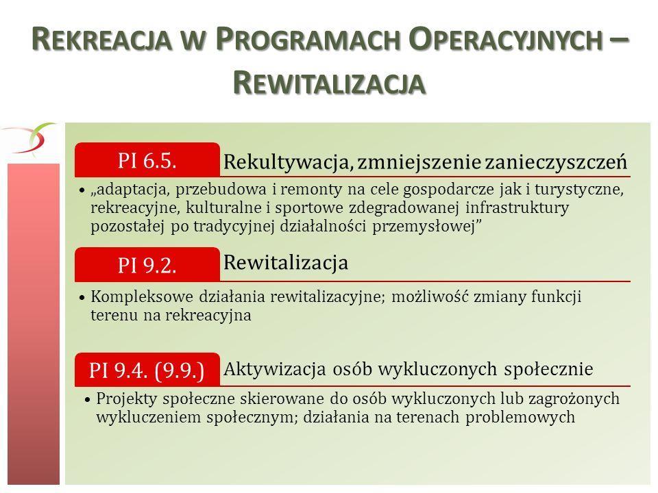 Rekreacja w Programach Operacyjnych – Rewitalizacja