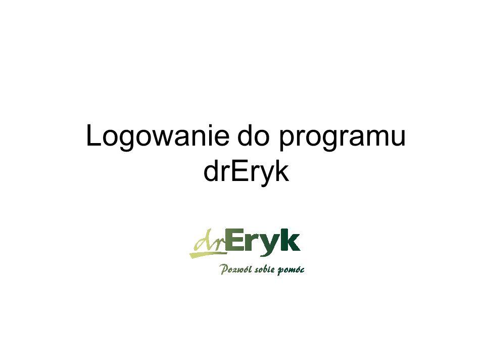 Logowanie do programu drEryk